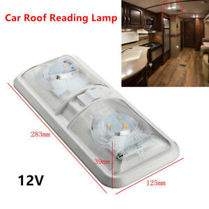 12v Truck Ceiling 48led Light Roof Reading Lamp Camper Rv Boat Indoor Lighting