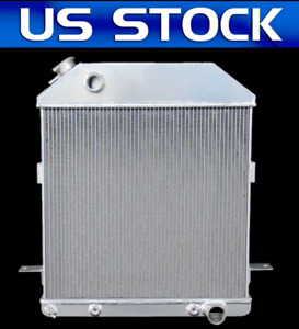 Racing 3 Row Aluminum Radiator For 1939 41 Ford Merc Chevy Config