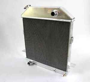 Fit 1939 40 41 Ford Deluxe With Ford V8 3 Row Full Aluminum Radiator Cc4001fd