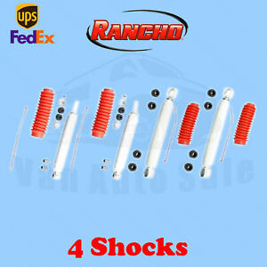 Rancho Rs5000 Front rear 2 5 3 Lift Shocks For Toyota 4runner 2wd 84 85 Kit 4
