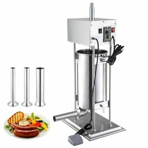 5l Electric Sausage Stuffer Vertical Stainless Meat Filler Grinder