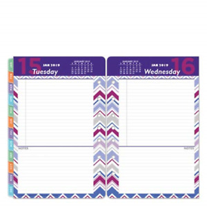 Classic Retropop One page per day Ring bound Planner Jan 2019 Dec 2019