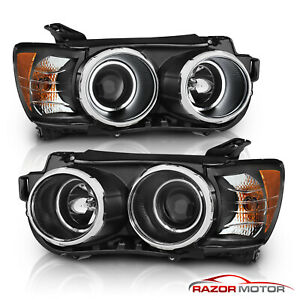dual Ccfl Halo 2012 2013 2014 2015 Chevy Sonic Black Projector Headlights Pair