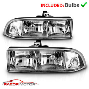 For 1998 2004 Chevy S10 Pickup Truck Chevy Blazer Suv Chrome Headlights Assembly