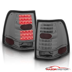 2003 2004 2005 2006 Ford Expedition Led Smoke Brake Tail Lights Rear Lamps Pair