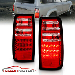 For 1991 1992 1993 1994 1995 1996 1997 Toyota Land Cruiser Red Led Tail Lights