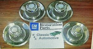 3day Sale 4 New Rally Wheel Center Derby Caps Gm Resto Camaro Chevelle Elcamino