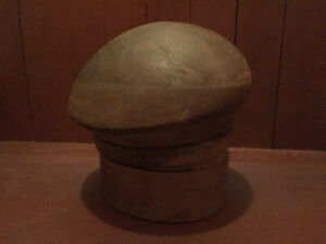 Antique Wood Millinery Hat Block Mold Puzzle Style