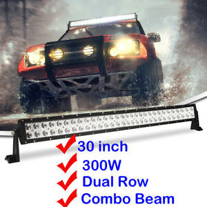 30 Inch 300w Led Work Light Bar Combo For Offroad Suv Car Boat Driving Lamp