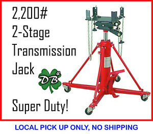 2200 Lb 2 stage Super Duty Transmission Jack 1 Ton 75 Lift Height