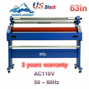 Qomolangma 63in Wide Format Cold Laminator And Mounting Machine us Stock