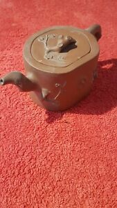 Antique Chnese Clay Teapot Signed