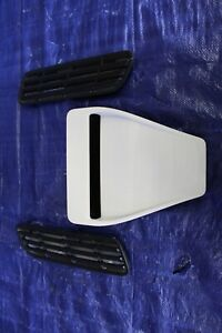 2011 Mitsubishi Lancer Evolution X Gsr Oem White Hood Scoop 548