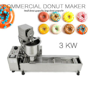 Fully Automatic Donut Fryer Maker Stainless Steel Donut Making Machine