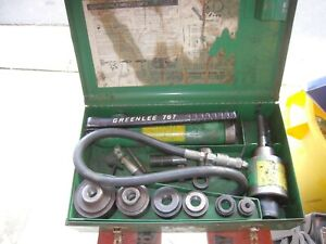Greenlee 1 2 To 2 Hydraulic Knockout Set