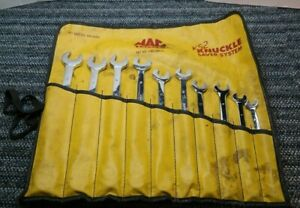 Mac Tools Unused 10 Piece Metric Long Combo Wrench Set 12 Pt 10mm 19mm Z11