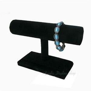 6 X Black Velvet Small 7 5 Bracelet T bar Display Stand
