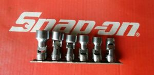 Snap On Tools 3 8 Drive 6 Pc Sae 6pt Universal Socket Set 206afsay 7 16 3 4