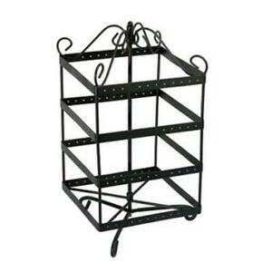 Metal Rotating Earring Display Stand For 96 Pair Square