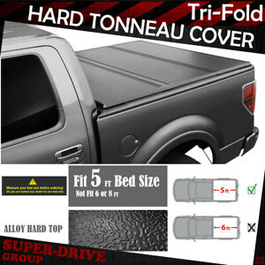 Hard Solid Tri Fold Tonneau Covers For 2005 2018 Nissan Frontier 5 Ft 60 Bed