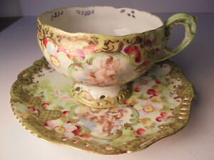 Antique Tea Cup Saucer Unusual Vintage Set Is The Crown Jewel Of Collectibles