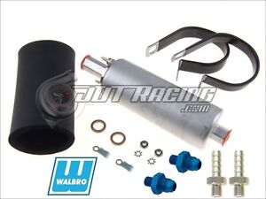 Genuine Walbro ti Gsl392 255lph External Inline Fuel Pump 6an 8an Fitting