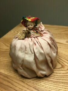 Antique Porcelain Bisque Half Doll With Broken Arm