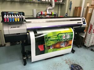 Mimaki Jv300 130 54 Wide Format Printer Free Rip And Training Free Laminator