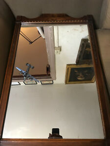 Large Vintage Mahogany Framed Mirror 22 0 Wide X 33 0 Tall X 1 25 Deep