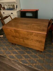 Consider H Willett Vintage Solid Cherry Gate Leg Table