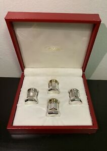 Cartier Vintage Sterling Silver Salt Pepper Shakers 4 27 6g