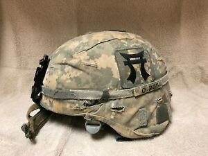 MSA ACH Advanced Combat Helmet W ACU Cover Pads Chinstrap size Medium