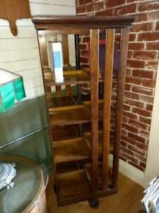 Antique Spinning Danner Bookcase On Casters 25 5 Tall X 19 Square