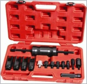 14pcs Diesel Injector Extractor Master Set With Common Rail Adaptor Slide Hammer