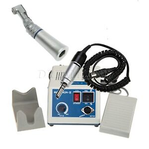 Dental Lab Micromotor Electric Motor 35k Rpm Contra Angle Low Speed Handpiece Us