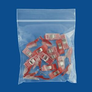 Reclosable Plastic Ziplock Storage Bags Clear 4 X 4 2 Mil 7000 Small Baggies