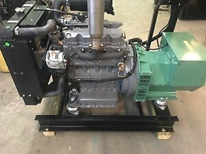 25 Kw Diesel Generator Kubota 0 Hrs 12 Lead Single Phase V2203 120 240 Volt