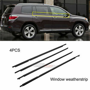 For Toyota Highlander 2008 2009 2010 Window Trim Weatherstrip Seal Belt New