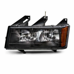 Fit 2004 2012 Chevy Colorado Headlight Left Driver Side Black