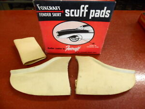 1959 Ford Foxcraft Fender Skirt Scuff Pad Stainless Moulding Pair Nos