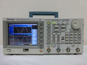 Tektronix Afg3102 100 Mhz 2 Channel Arbitrary Function Generator Calibrated