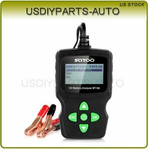 6v 12v 18v Vehicle Digital Battery Test Check Analyzer Diagnostic Tool Bt100