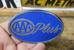 Vintage Aaa Plus License Plate Topper Accessory Trunk Bumper Badge