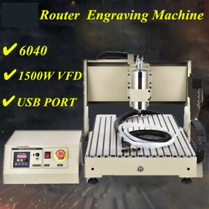 1 5kw 4axis Usb Cnc Router 6040 Engraver Machine Mill Drill Woodworking 3d Cutte