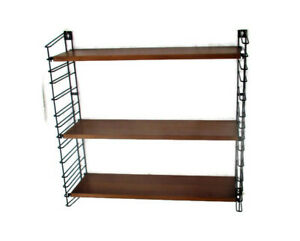 Mid Century Modern Wall Shelving Unit Teak Dutch Design Tomado Adjustable Retro