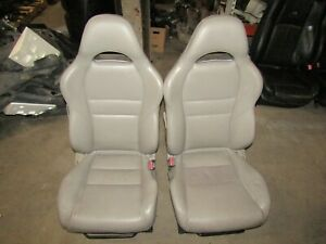 02 06 Acura Rsx Type S Front Bucket And Rear Tan Leather Manual Seats Oem