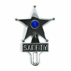 Blue Dot Vintage Style Safety Star Lighted License Plate Topper bomber led Sled