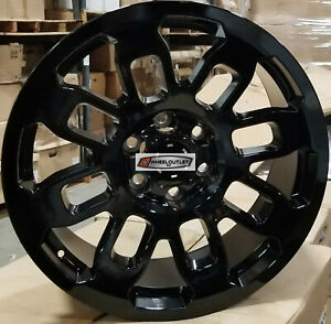 17x8 Wheels Aftermarket Black Rims Fit 6lug Toyota Tacoma Fj Crusier Trd