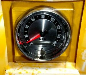 310 Autometer 1288 American Muscle 3 3 8 Speedometer Gauge 0 160 Mph White Led
