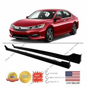 For 2013 2017 Honda Accord Sedan 4 door Mod Style Black Side Skirts Body Kit